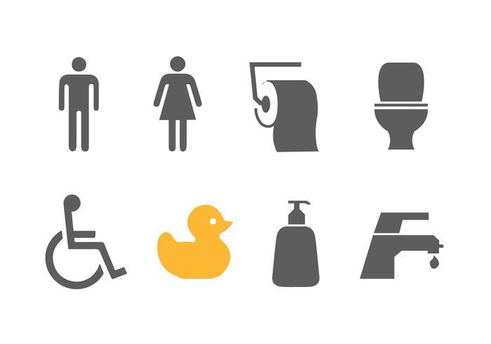 Vetores simples do banheiro