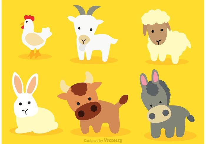 Vetores de desenhos animados de animais
