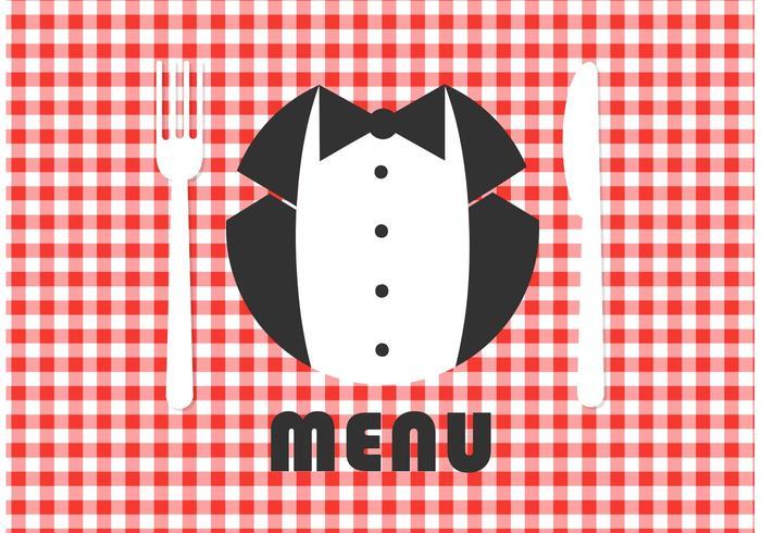 Design de vetor de cartão de menu gratuito