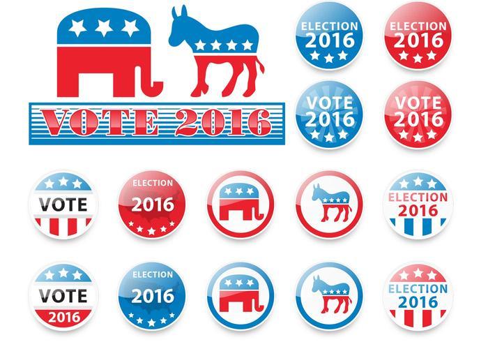 Elections 2016 Vectors