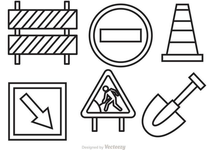 Sob os vetores de sinal de construção
