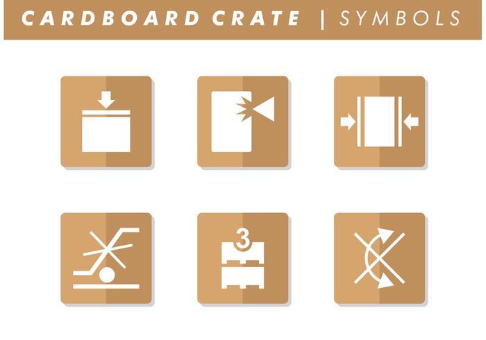 Vector de símbolos de caixa de papelão grátis