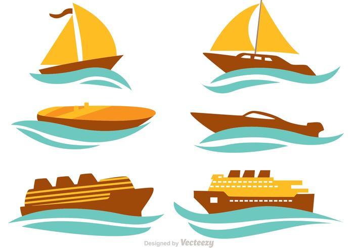 Conjunto de vetores de navios