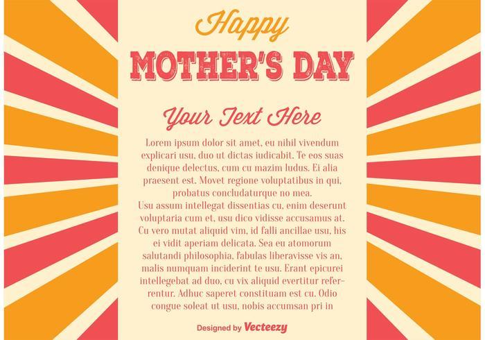 Ilustração do Dia das Mães vetor