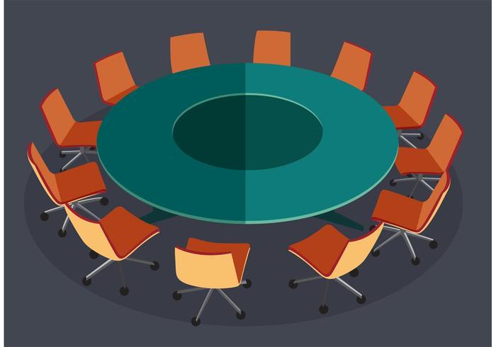 Vector de reunião de mesa redonda