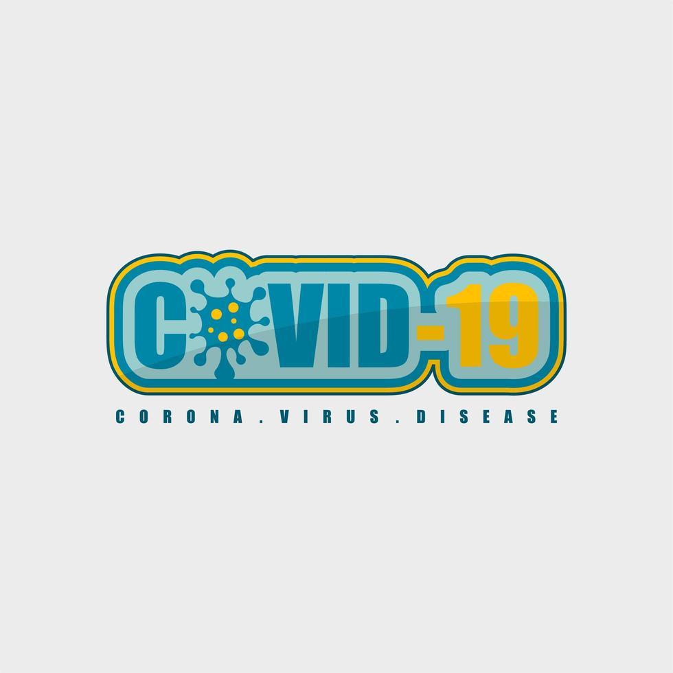 covid-19 corona virus disease tipografia vetor