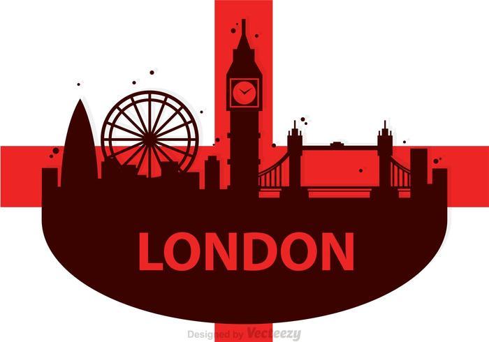 Londres city scape vector