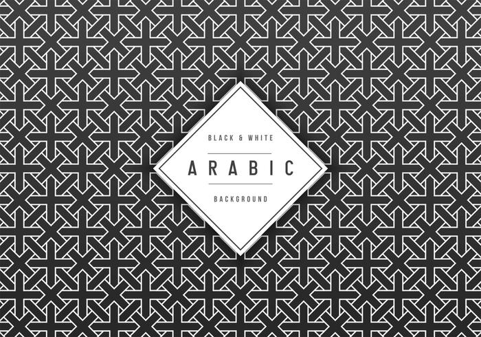 Fundo geométrico grátis do vetor árabe