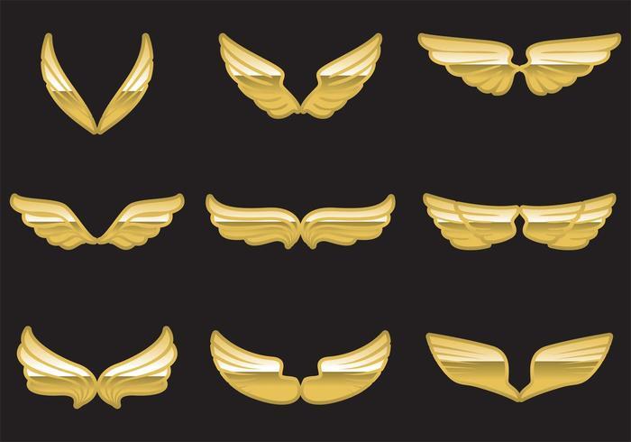 Vetor asas douradas