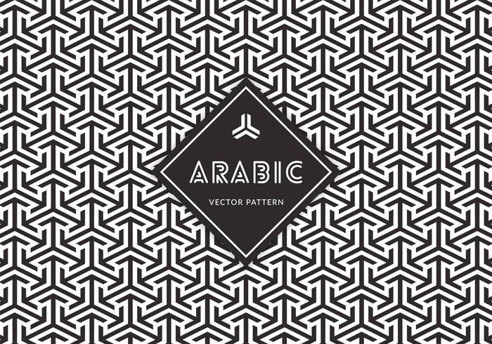 Padrão vetorial sem fio árabe grátis vetor