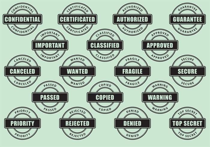 Vetores de selos de círculo