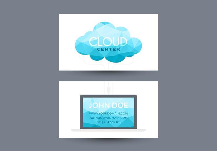 Design livre de vetores de cartão de visita em computação em nuvem