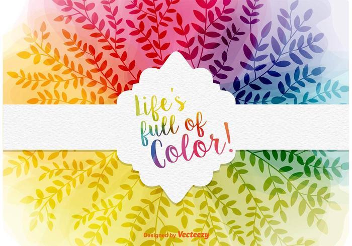 Fundo colorido da folha natural vetor