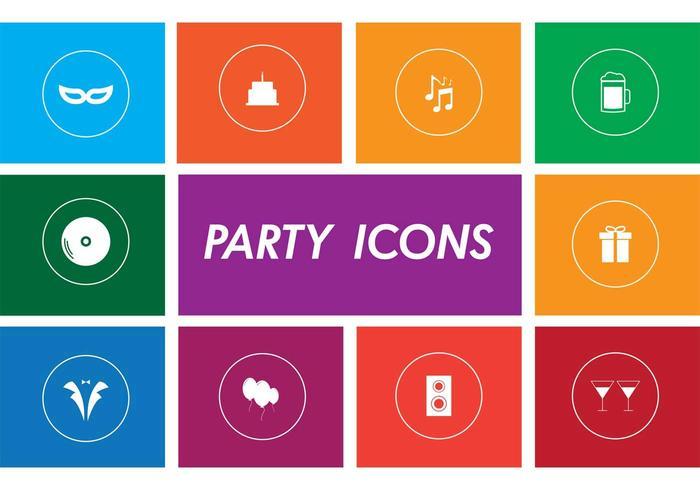Ícones do vetor da festa