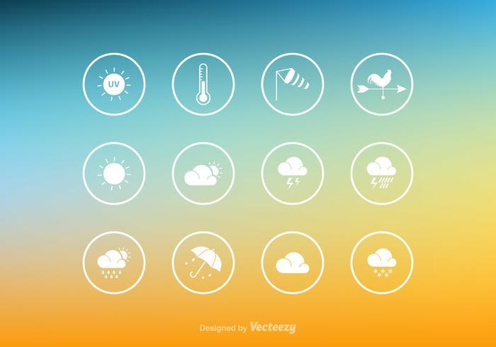 Ícone de clima de vetor livre configurado