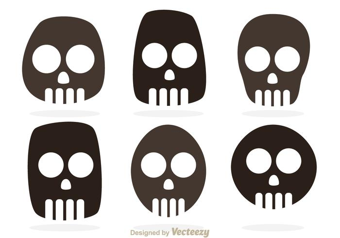 Vetores de símbolos de crânio