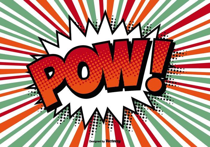 Comic Style POW! Ilustração vetor