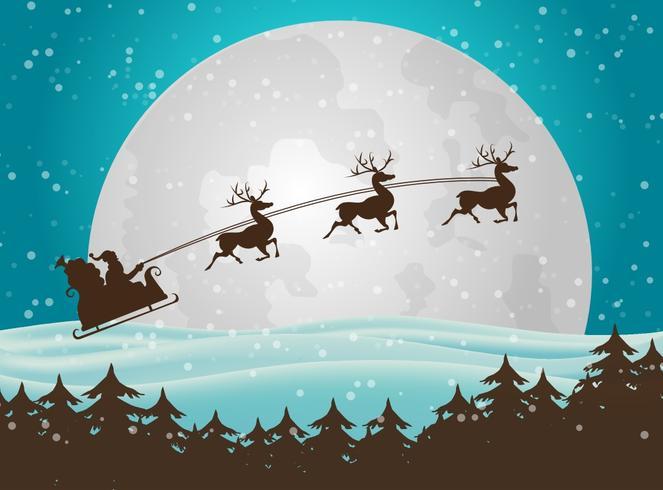 Fundo de Natal do Papai Noel vetor