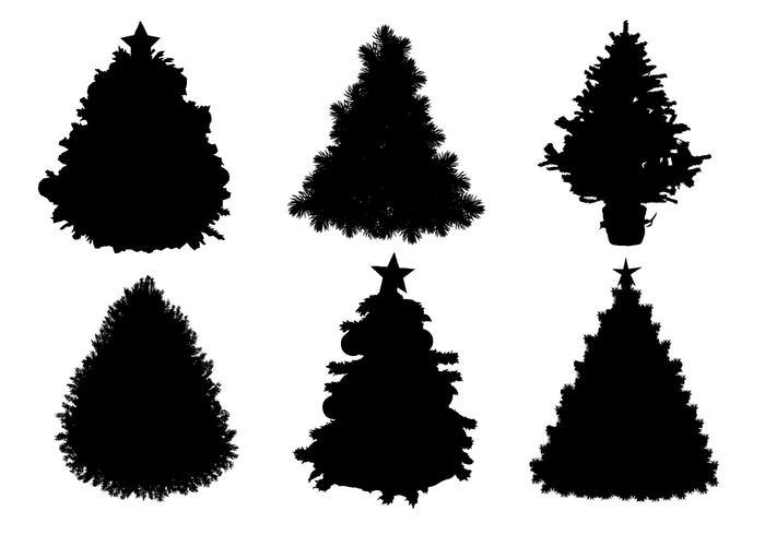 Silhueta da árvore de natal vetor