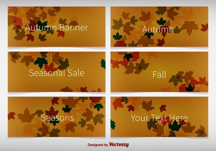 Banners de Fundo Outono vetor