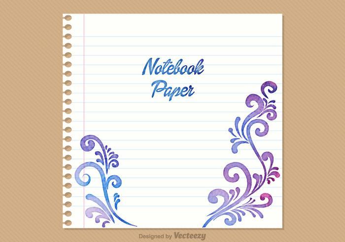 Fundo de vetor de papel de notebook gratuito