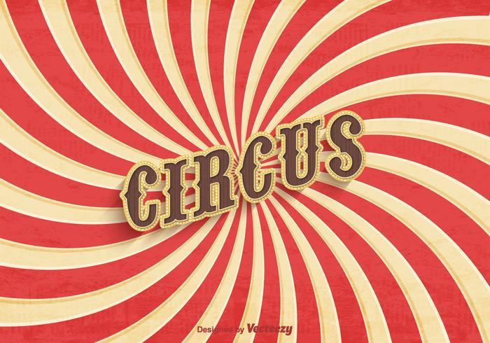 Vetor de cartaz de circo velho e livre