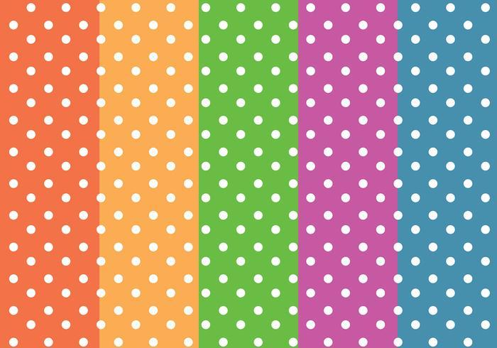 Vetor de padrões coloridos dos pontos