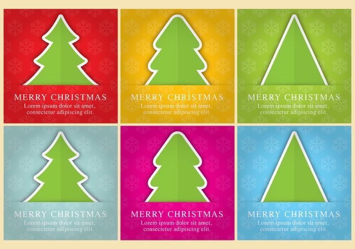 Cartões do vetor da árvore de Natal