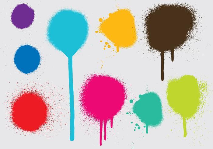 Vetores de gotejamento de tinta spray