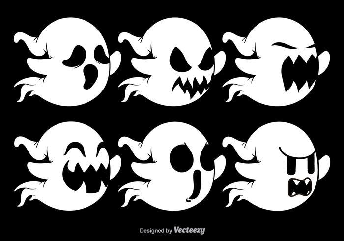 Vários personagens fantasmas vetor