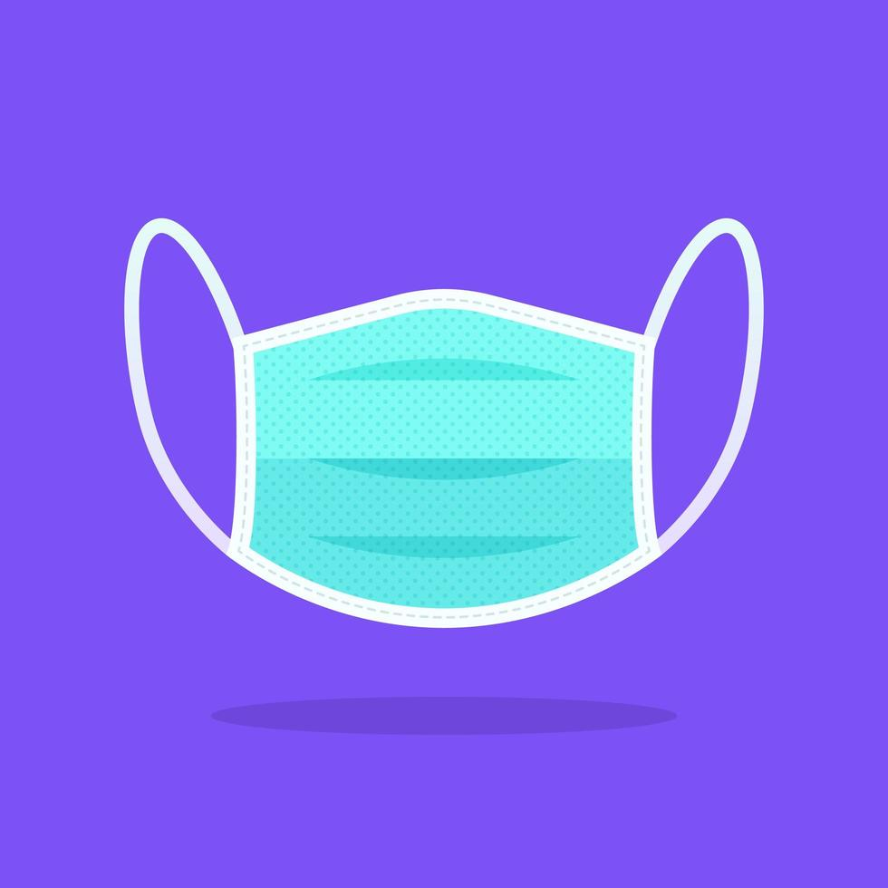 segurança respiração médica máscara plana ícone vetor