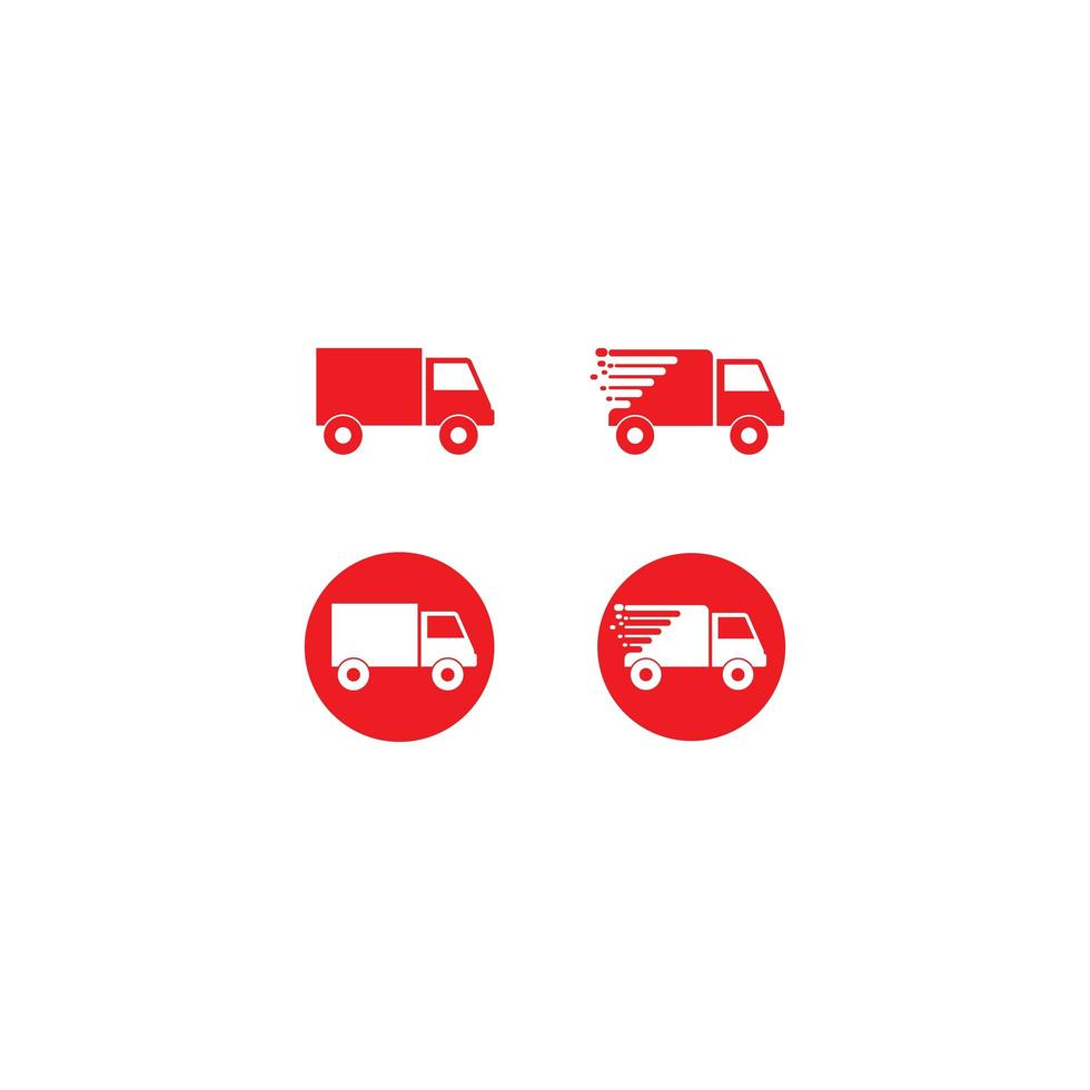 conjunto de ícones de caminhão vetor