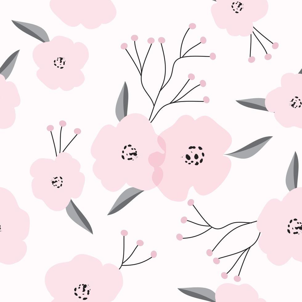 teste padrão floral rosa vintage vetor