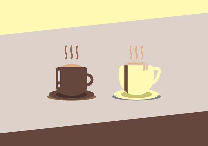 Vetores de café quente