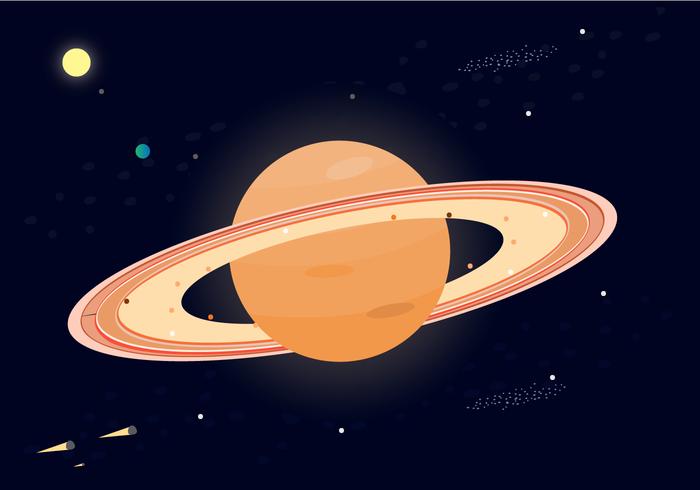 Vetor Saturno grátis do planeta