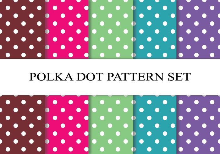 Conjunto colorido de padrões de bolinhas vetor