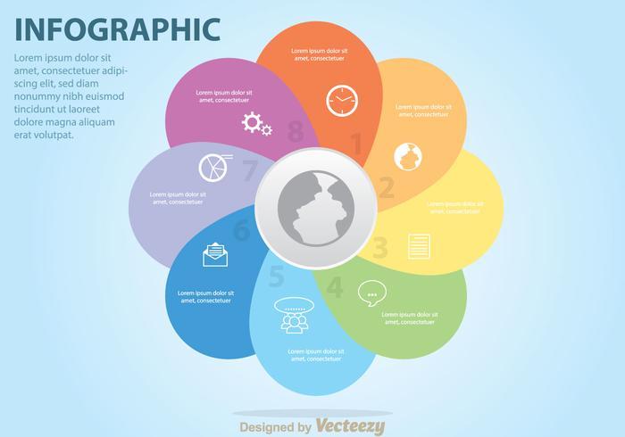 Diagrama colorido do negócio de Venn vetor