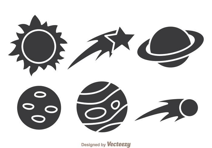 Ícones espaciais vetor