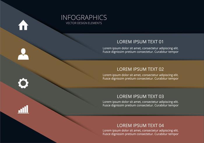 Infografia limpa vetor