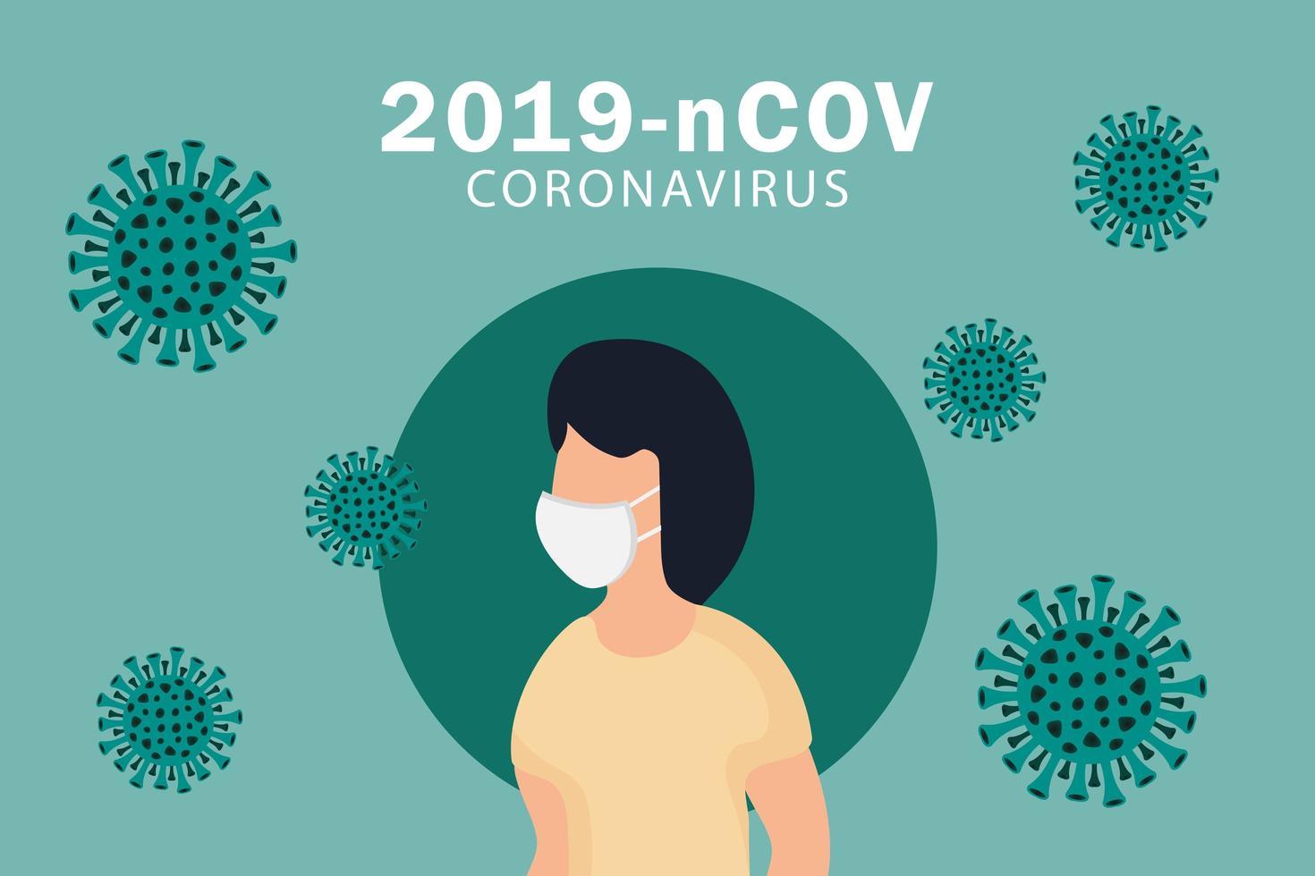 cartaz do coronavirus covid-19 ou 2019-ncov vetor