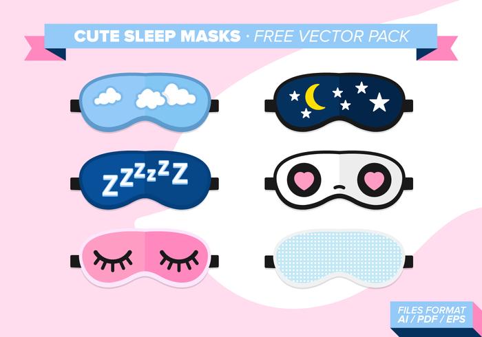 Cute sleep masks free vector pack