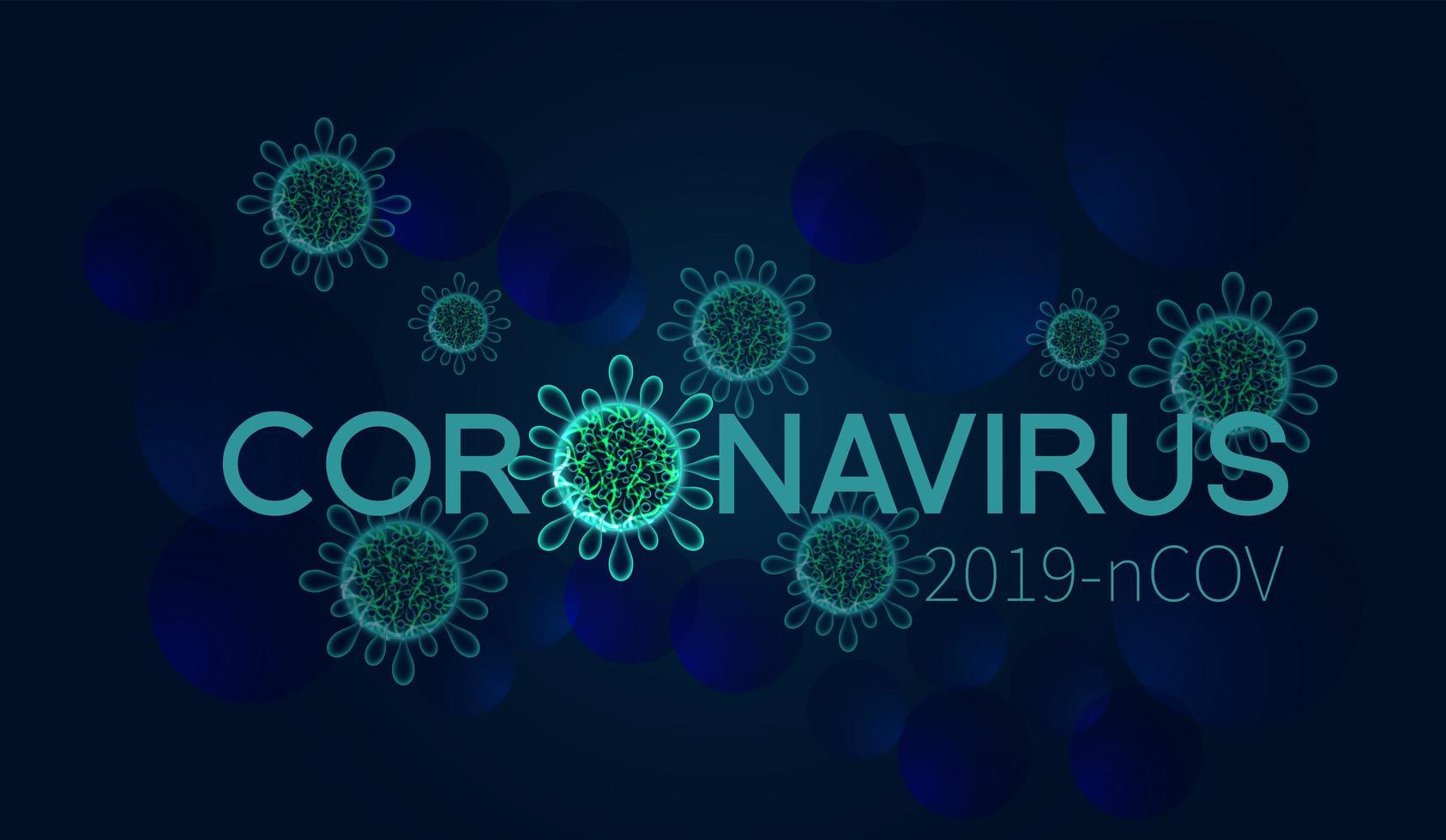 fundo covid-19 microscópico verde brilhante vetor