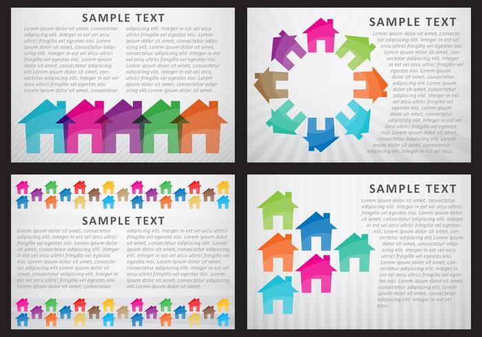 Modelos de casas e edifícios vetor