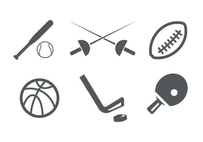 Ícones do esporte vetor