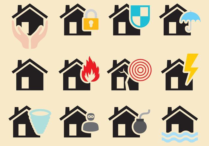 Vector desastres naturais em casa