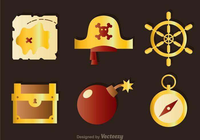 Ícones das cores do tesouro vetor