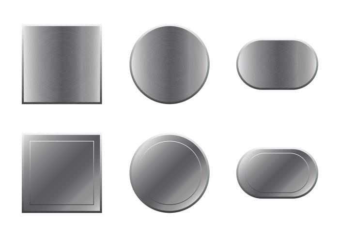 Conjunto de vetores de alumínio escovado livre
