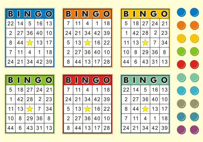 Cartões de Bingo Free Vector