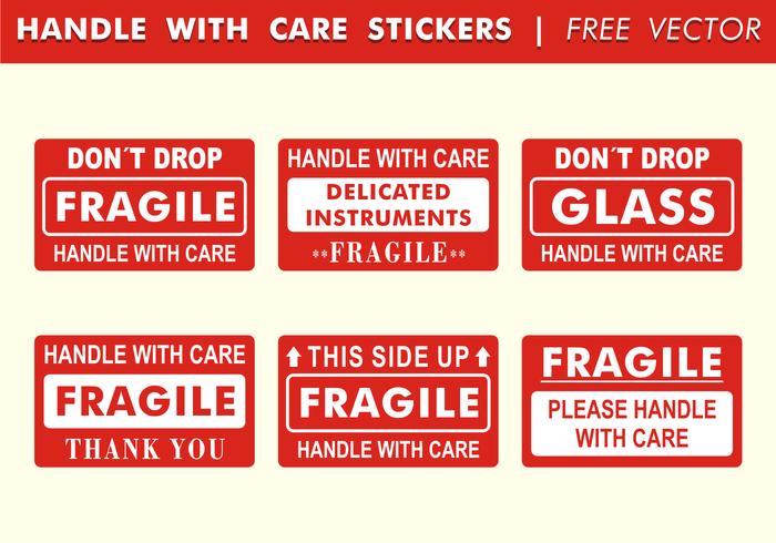 Lidar com etiquetas de cuidados Vector grátis