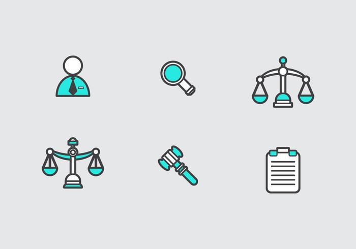 Ícones livres de vetores de escritórios de advocacia
